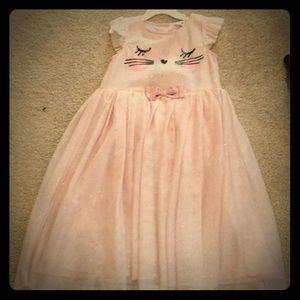 Cute cat faced dress